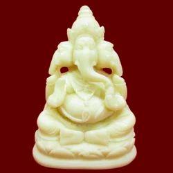 Resin Three Face Ganesha Statue
