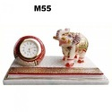 Marble Elephant Statue With Clock