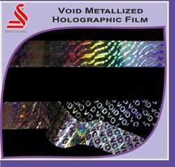 Void Metallized Laser Reveal Hidden Text in Hologram Film