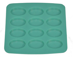 20gms - Oval - 12Cavities - Silicone Soap Mold