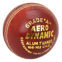 BDM Aero Dynamic Red Cricket Leather Ball