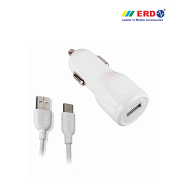 CC 50 Type C White Car Charger