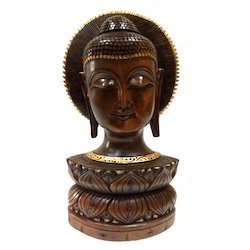 Wooden Black Finishing Kiran Buddha