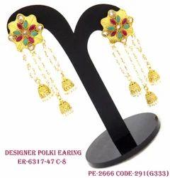 Designer Jhumka with Pearl Drops