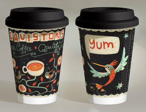 Creative Printed  Coffee Cups