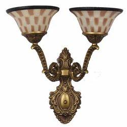 Jainsons Emporio Imperial Double Beige & Brown Glass Upward