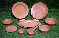 Terracotta Finish Melamine Crockery