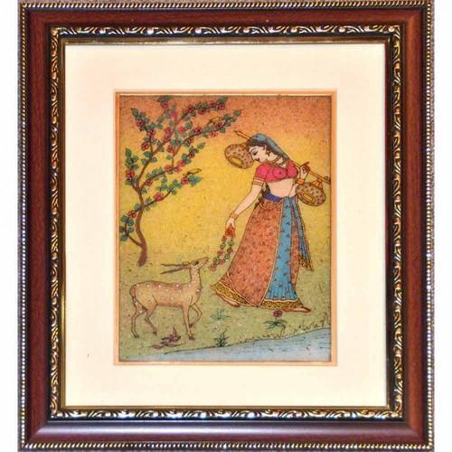Gemstone Paintings - Double Frame Gemstone Painting Manufacturer ...