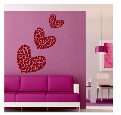 Romantic And Bedroom Wall Stickers The Beautiful Heart Wall