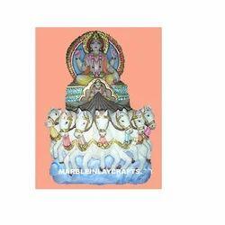 Marble Surya Bhagwan Statue