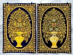 Zardosi Velvet Embroidery Hanging