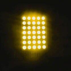 5x7 LED点矩阵显示琥珀色