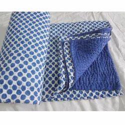 Polka Dot Handmade Kantha Quilt