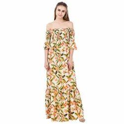 Designer Off Shoulder Maxi Dress