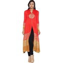 Ira-Soleil-Red-Beige-Block-Printed-Viscose-Knitted