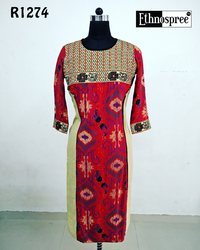Designer Linen Kurti