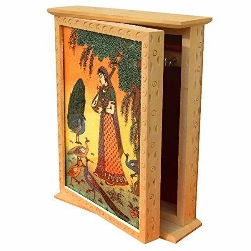 Wooden Handicrafts Wooden Box Key Holder Wholesale Trader From Jaipur