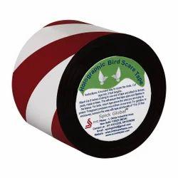 Red Silver Bird Scare Stripe Tape