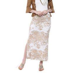 Ira-Soleil-White-All-Over-Printed-Long-Skirt
