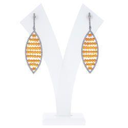 Diamond Gemstone Earrings Jewelry