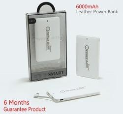 6000MAH SLIM POWER BANK LEATHER