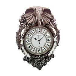 Antique Look Elephant Face Wall Clock Decorative Gift Item