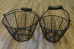 Iron Wire Storage Baskets - Set Of 2.