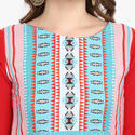 Multi Colour Digital Print Crepe Kurti