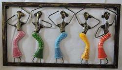 Metal Dancing Women Wall Decor