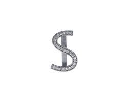 Natural Diamond S Letter Belt Buckle Findings