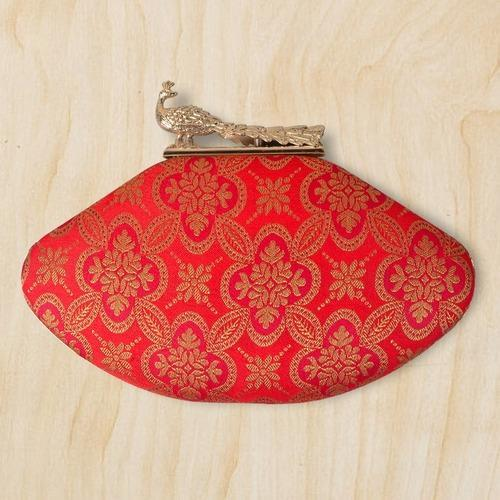 Brocade Embroidered Multicolour Clutch