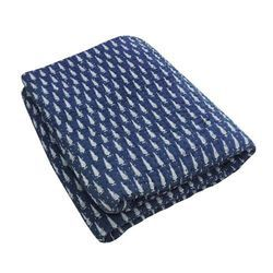 Hand Block Printed Indigo Fabric