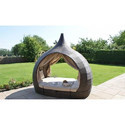 Outdoor Pool Cabana Beach Furniture Patio Daybed with Canopy