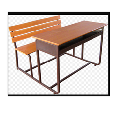 Plywood Desk with Bench with Joint