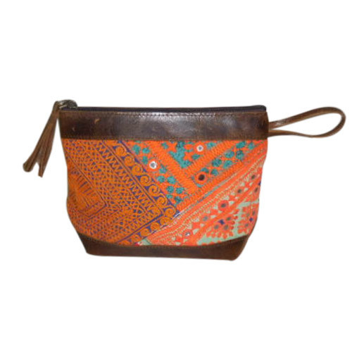 93e75b4445 Ladies Wallet - Ladies Banjara Cosmetic Bags With Leather Trims ...