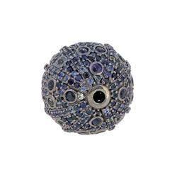 Blue Sapphire Ball Bead Findings