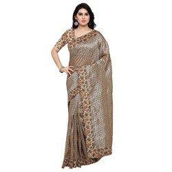 Kalamkari Printed Tussar Silk Saree