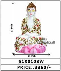 Marble Look Decorative Buddha Idol