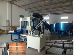 Semi Automatic Concrete Colour Paver Block Machine