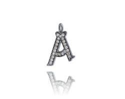 Ethnic Diamond A Letter Charm