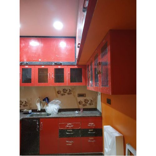 Pvc L Shape Modern Modular Kitchen Rs 850 Square Feet: Modular Kitchen Cabinet Manufacturer