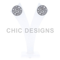 Diamond Filigree Stud Earrings