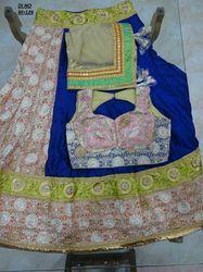 Multicolor Georgette Embroidered Lehenga Choli