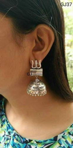 c18f51bb3 German Silver Oxidized Earring - German Silver Mahadev Jhumki Manufacturer  from Jaipur