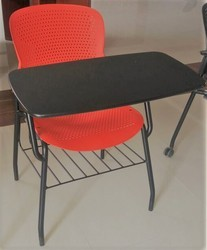 Institutional Training Chair With Full Writing Pad