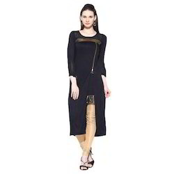 Ira- Soleil-black-double-layered-with-zipper- Viscose-knitted