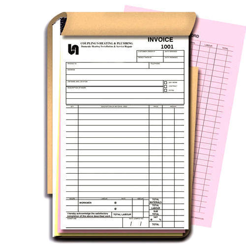 Custom Printing  MultiPart Carbonless Invoices amp Forms