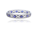 Blue Sapphire Gemstone Bangle