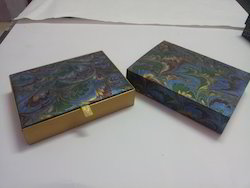 Custom Made Paper Boxes Made From Marble Paper