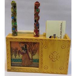 Gem Stone Card Holder with Pen Stand